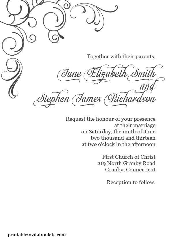 Printable Invitations Wholesale