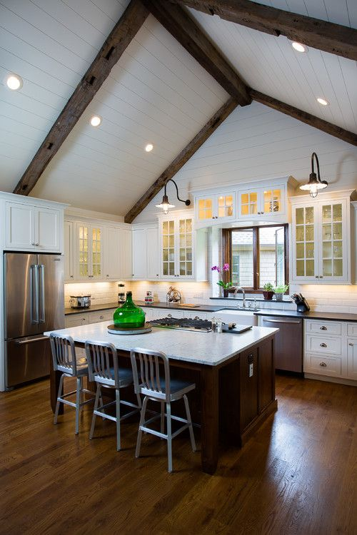Remodeled Kitchen Island And Dining Room