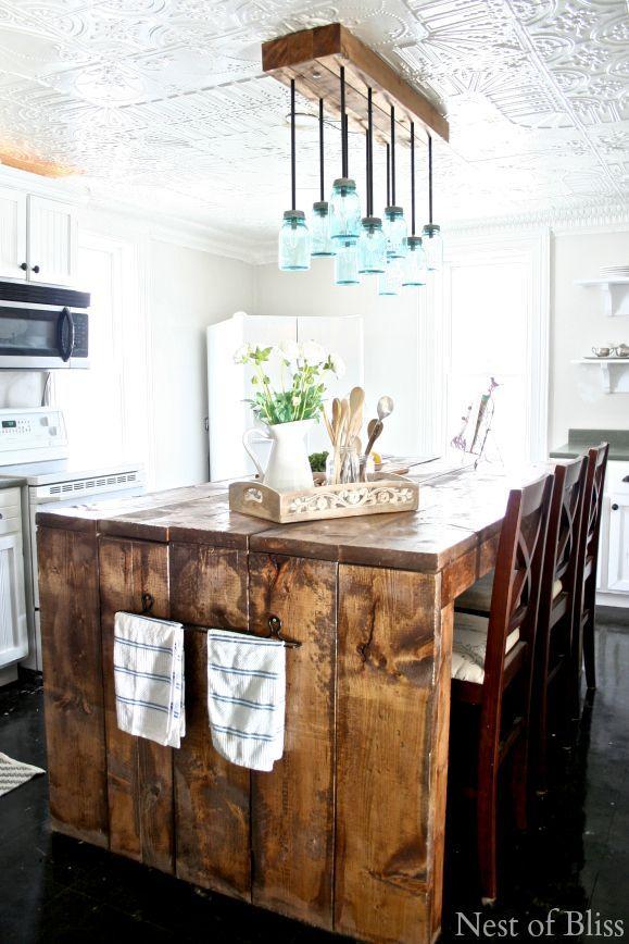 Above Island Farmhouse Kitchen Chandelier
