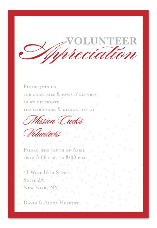 Volunteer Appreciation Program