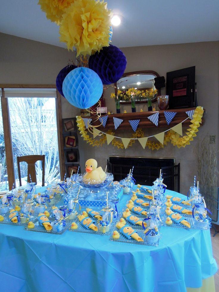 Yellow Ducks Baby Shower Theme
