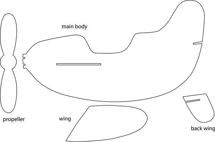 Small Airplane Template Preschool