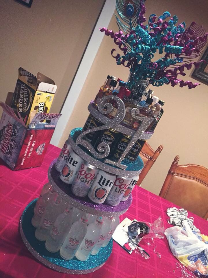 21 Birthday Alcohol Cake Crafty Facebook Things