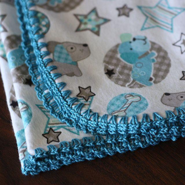 Crocheted Edgings Fleece