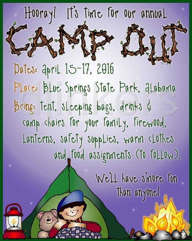 Camping Clip Art Sayings