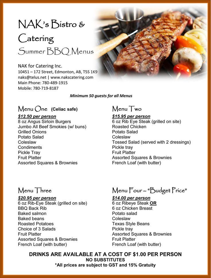 Soul Food Catering Menu