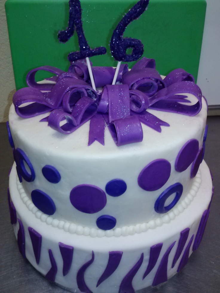 Purple Sweet 16 Cake Tsc Cupcakes Pinterest Sweet