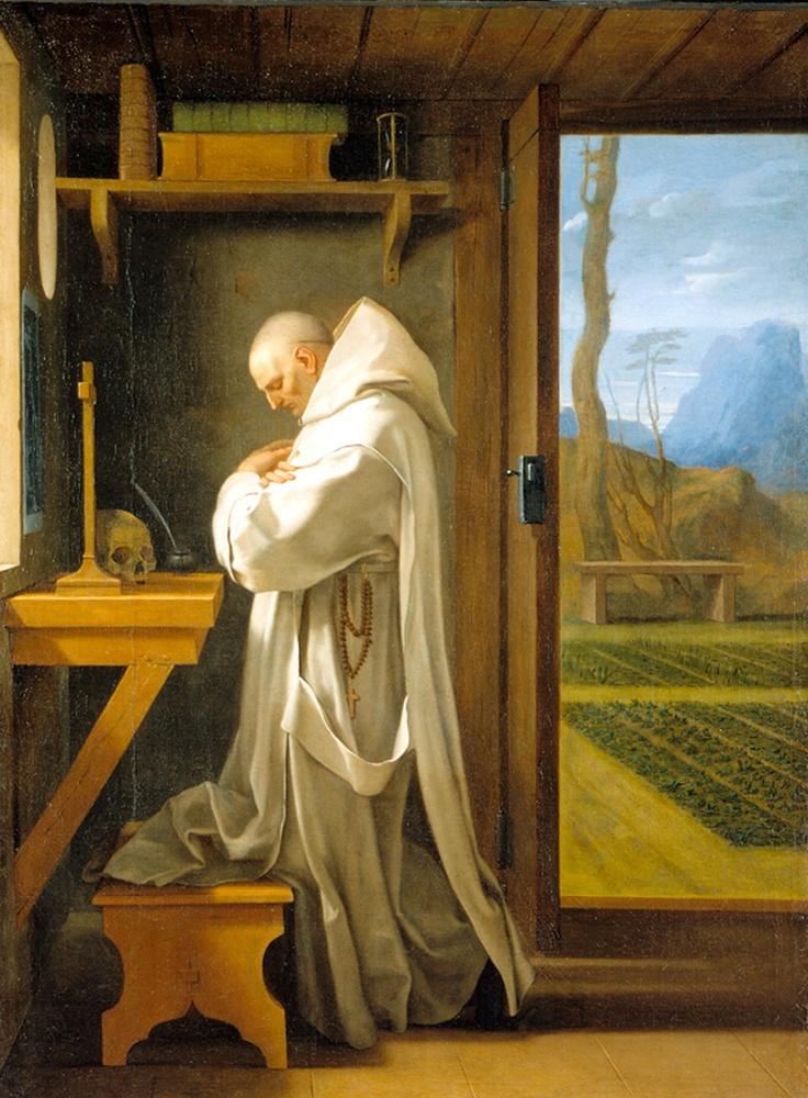 Eustache Le Sueur Saint Bruno In His Cell Retinalechoes