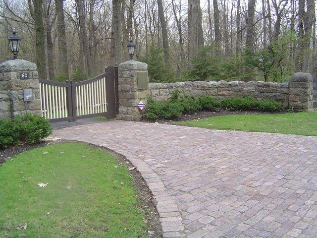 Brick Drive Entrances Gated Rock And