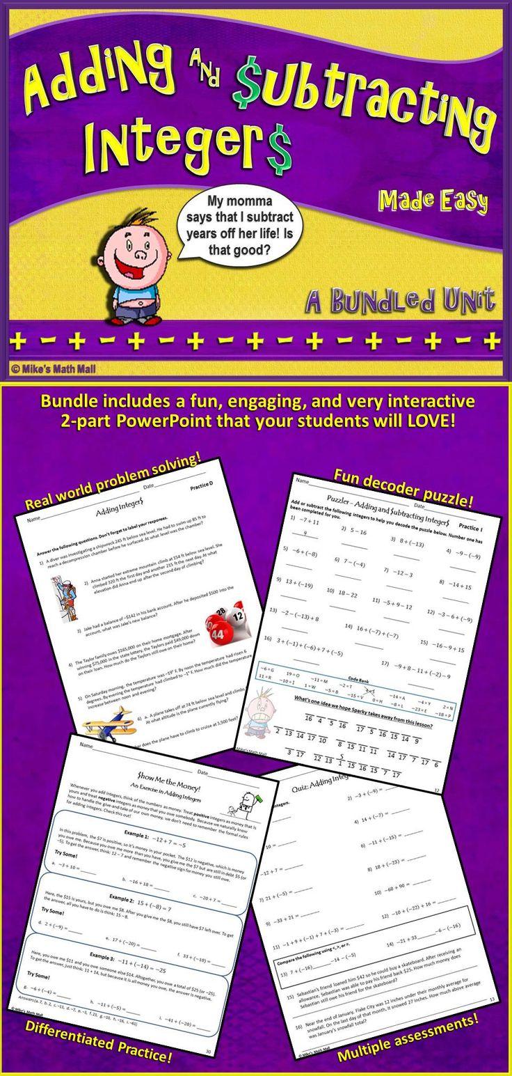 Using Manipulatives Subtracting Integers