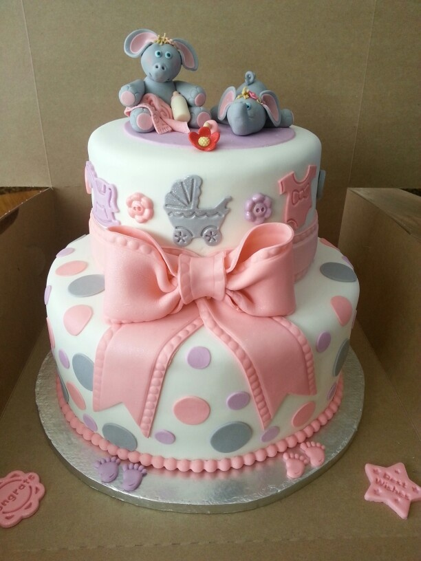 Twin Boys Christening Cake
