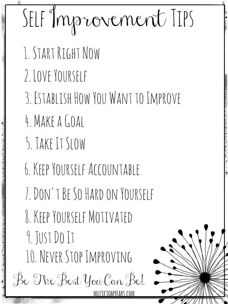 Daily Self Improvement Goals