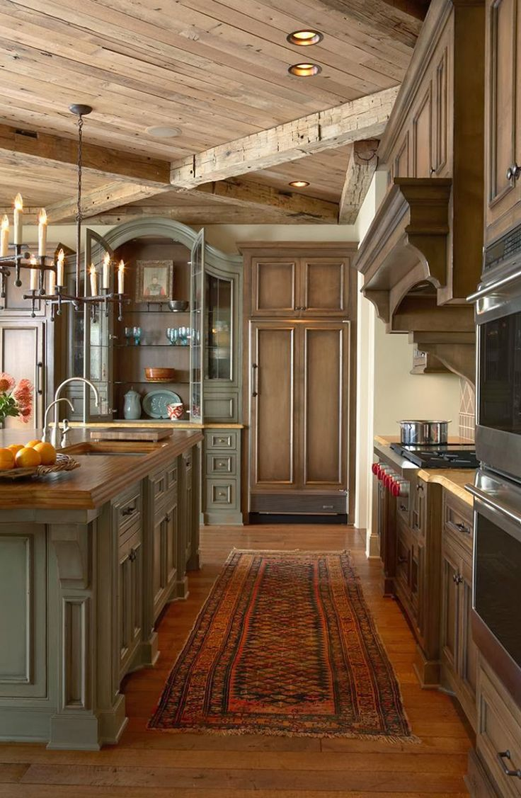Rustic Country Kitchen Lighting