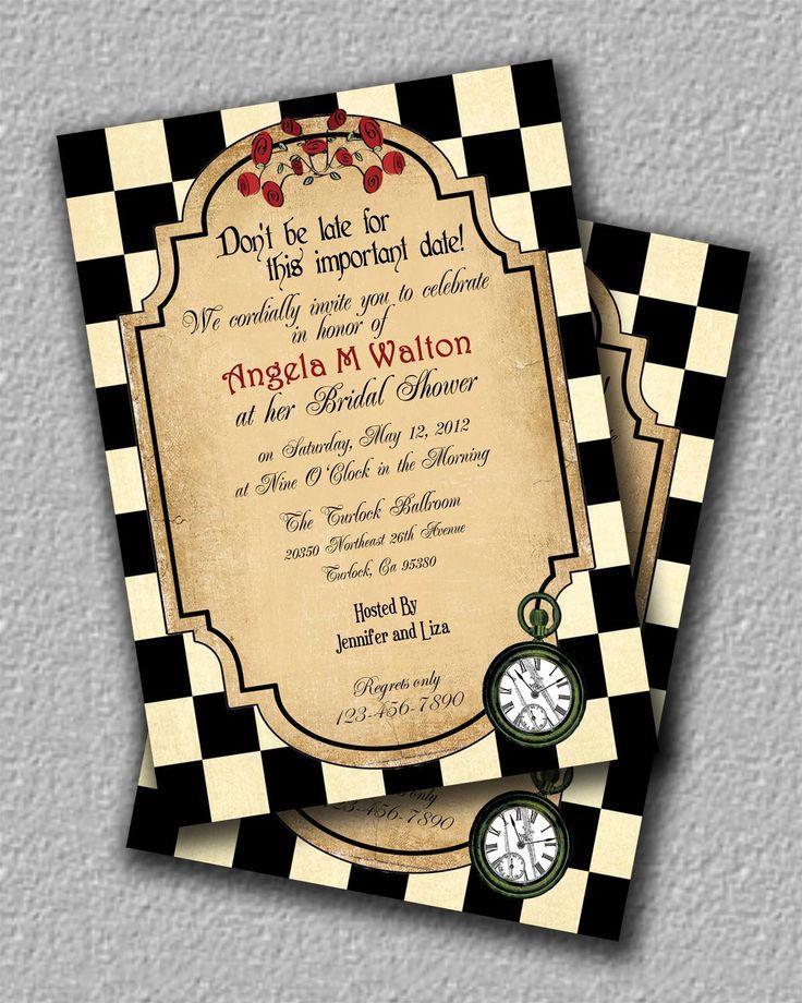 Bridal Shower Invitations Pinterest