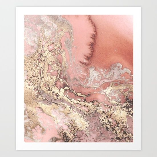 Rose Gold Marble Background