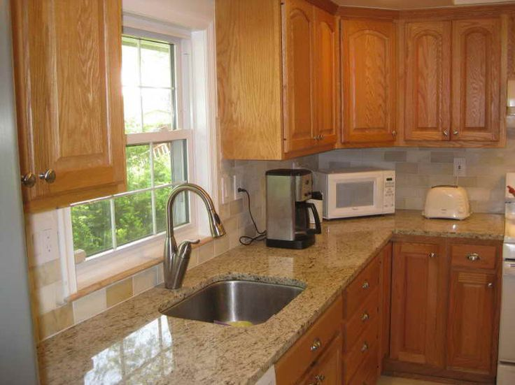 Marble Countertops With Honey Oak Cabinets Google Search