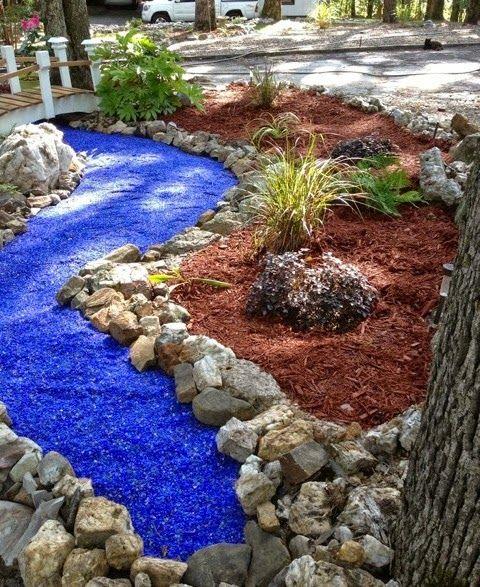 Decorative Lava Rock Garden