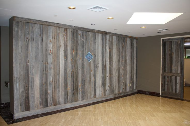 Barn Siding Accent Wall Press House Spa Pinterest