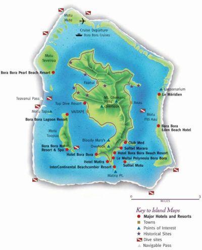 Bora Bora map | Tahiti | Pinterest | Bora bora island ...