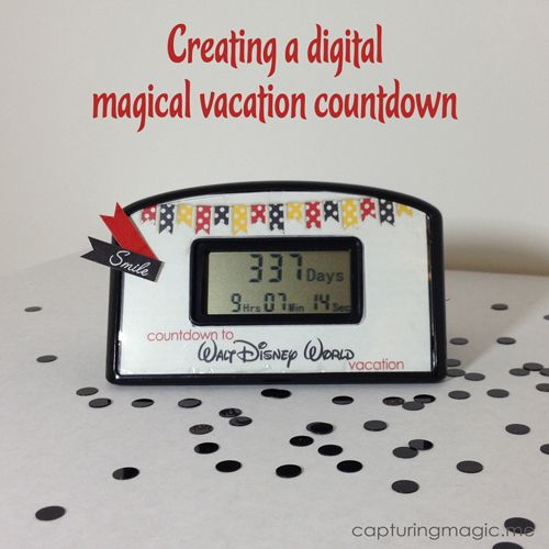 Disney Clock Countdown World