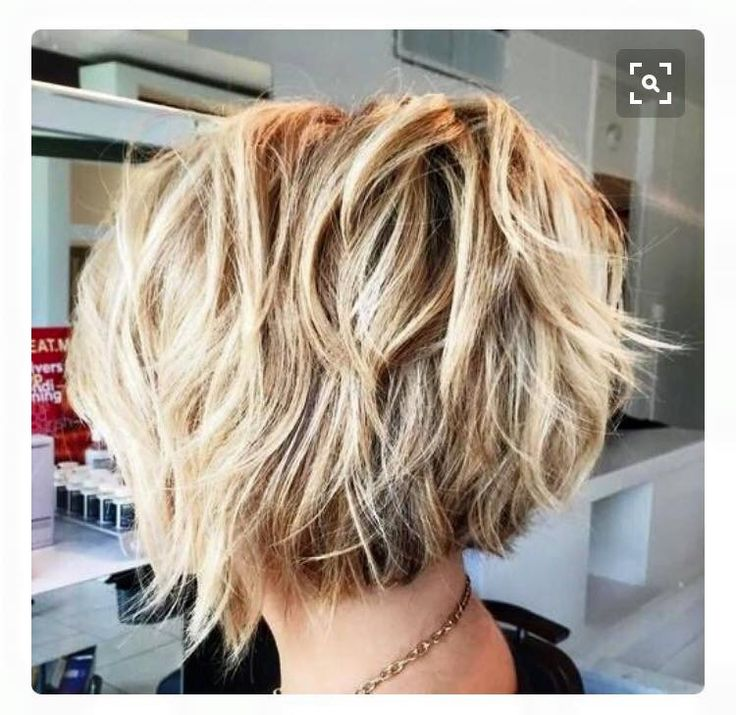 s messy shoulder length bob hairstyle back views