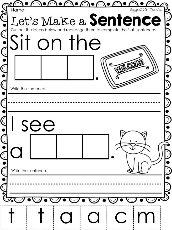 Kindergarten Charts Cvc Anchor