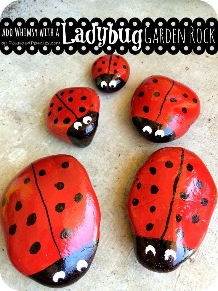 Painting Ideas Ladybug Rock