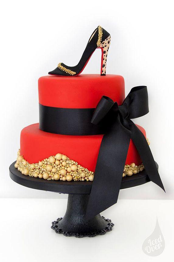 Happy Birthday Cake High Heel Shoes