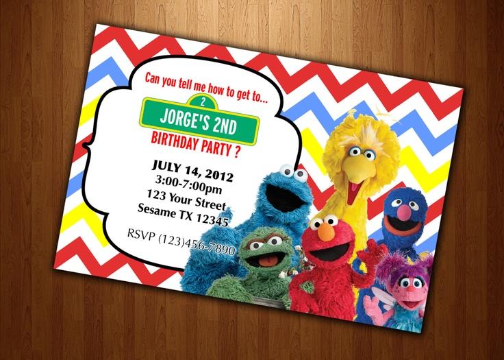Cheap Elmo Invitations