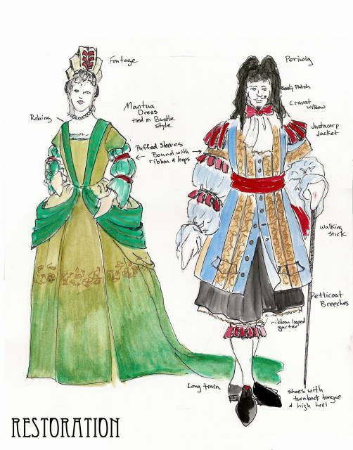 Comedy Restoration Costumes