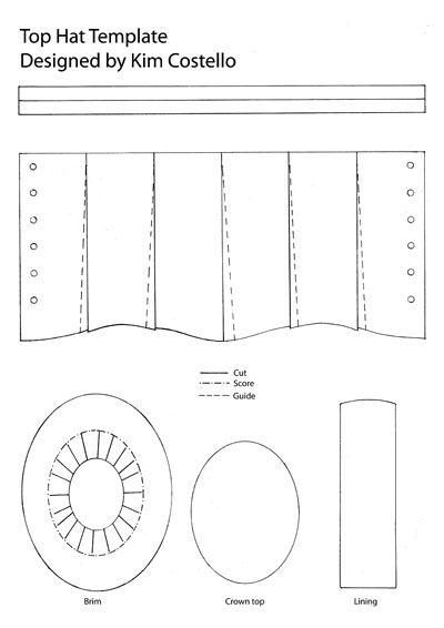Steampunk Top Hat Printable Pattern