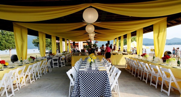 Picnic Table Pavilion Wedding Decorating Ideas