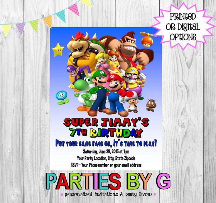 Free Printable Yoshi Invitations