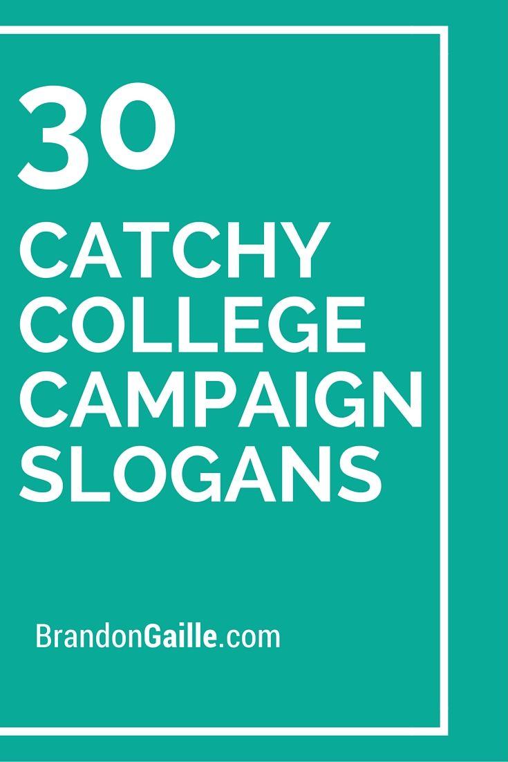 Student Slogan Ideas Council Campaign