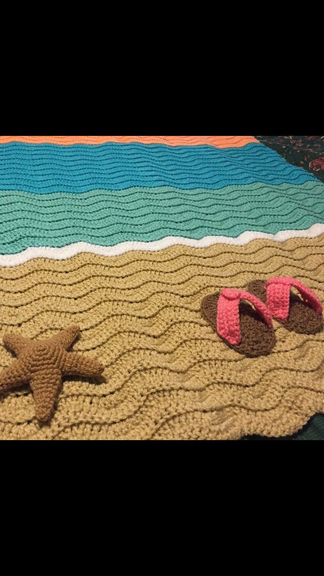 Seahorse Knitted Blanket Pattern