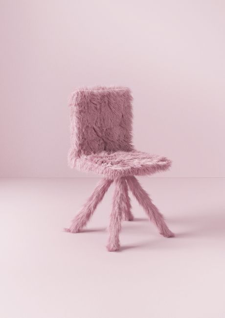 Pink Tufted Accent Chair