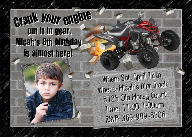 Personalized Bday Invitations