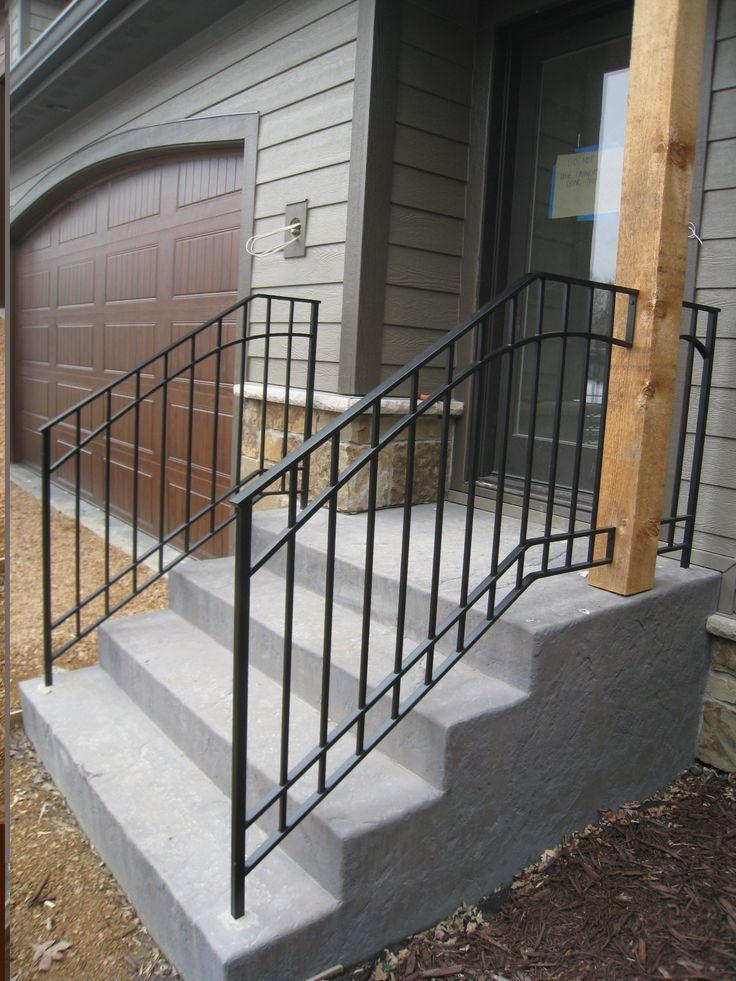 Railings And Irons On Pinterest | Steel Handrails For Concrete Steps