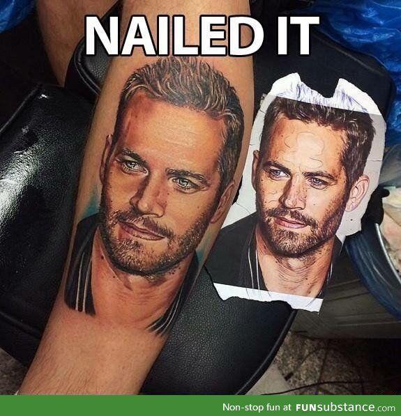 Paul Walker Tattoo Vin Diesel