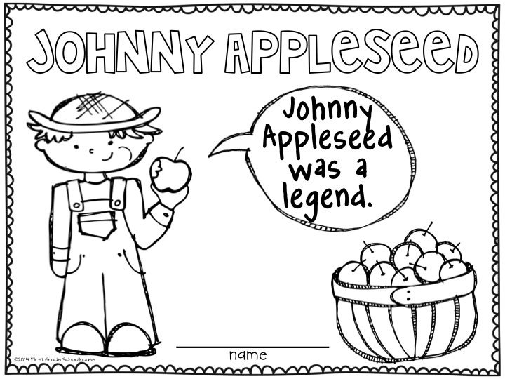 Coloring Appleseed Sheets Day Johnny
