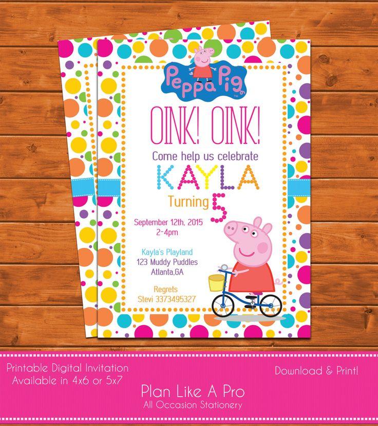 Banner Birthday Pig Olivia