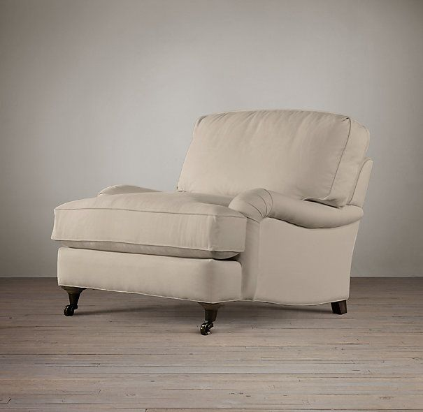 English Roll Arm Upholstered Chair Different Depths
