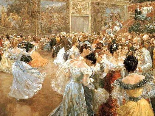 People Dancing Masquerade Ball Times Victorian Artwork