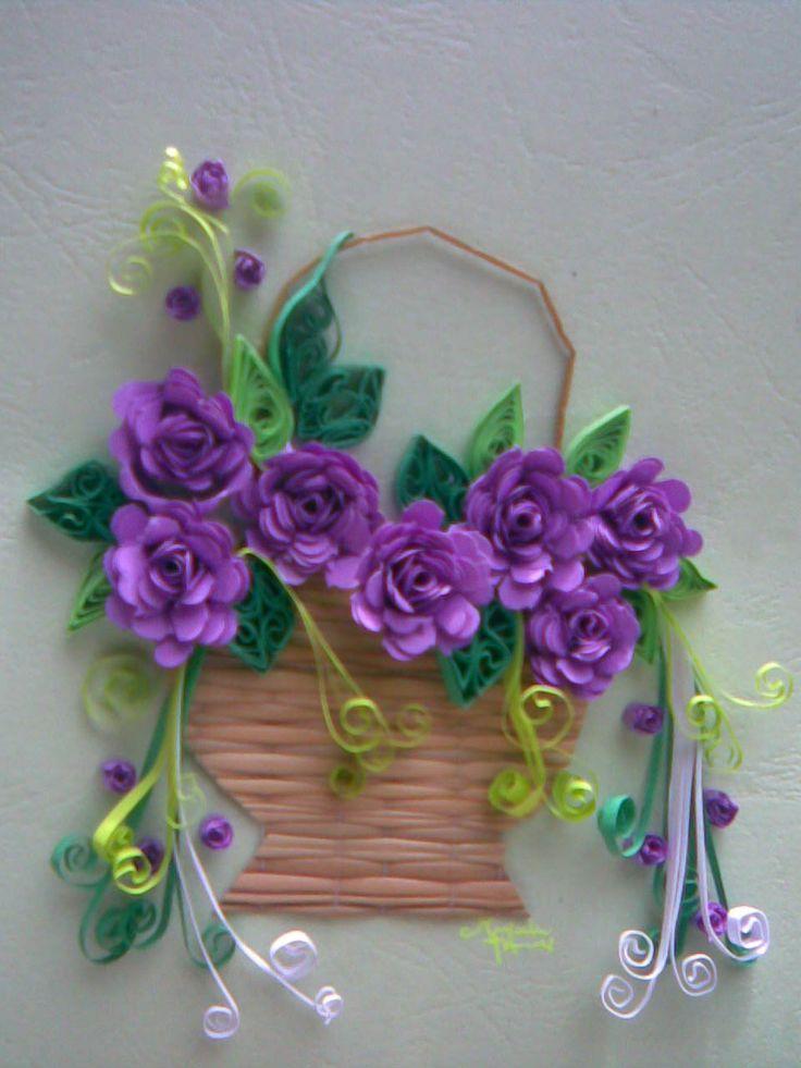 Paper Roses Basket Quilling