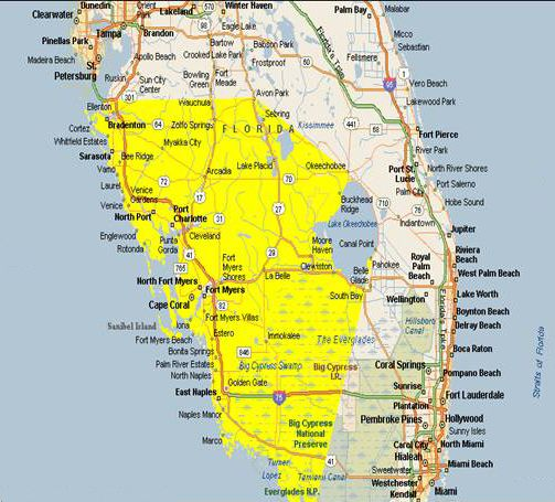 Cape Coral Ft Myers Zip Code Map