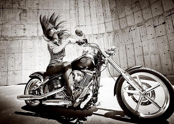 Motorcycle Card Birthday Harley