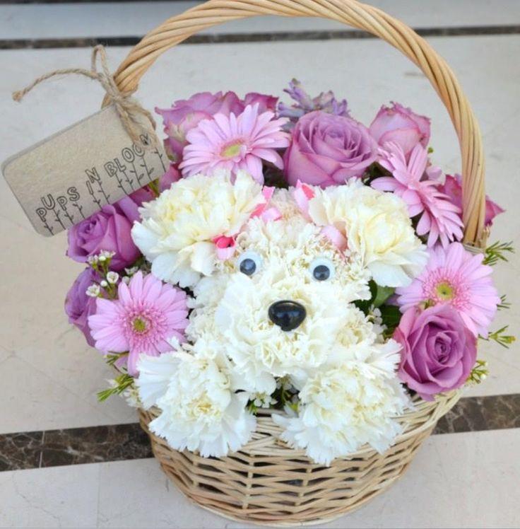 Puppy Arrangements Flower Carnation