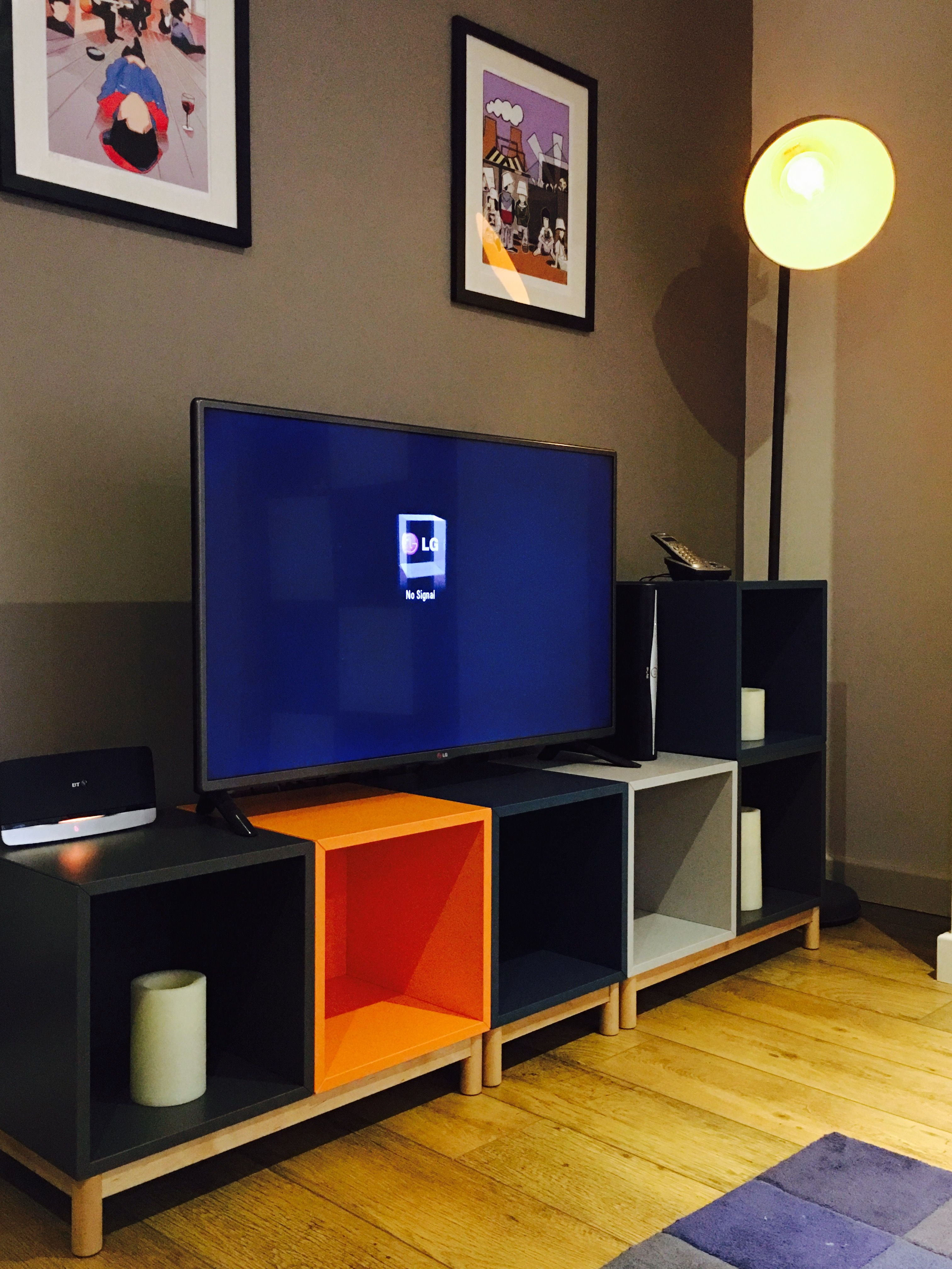 Ikea Eket Unit As A Tv Stand In Multicolours Our Version