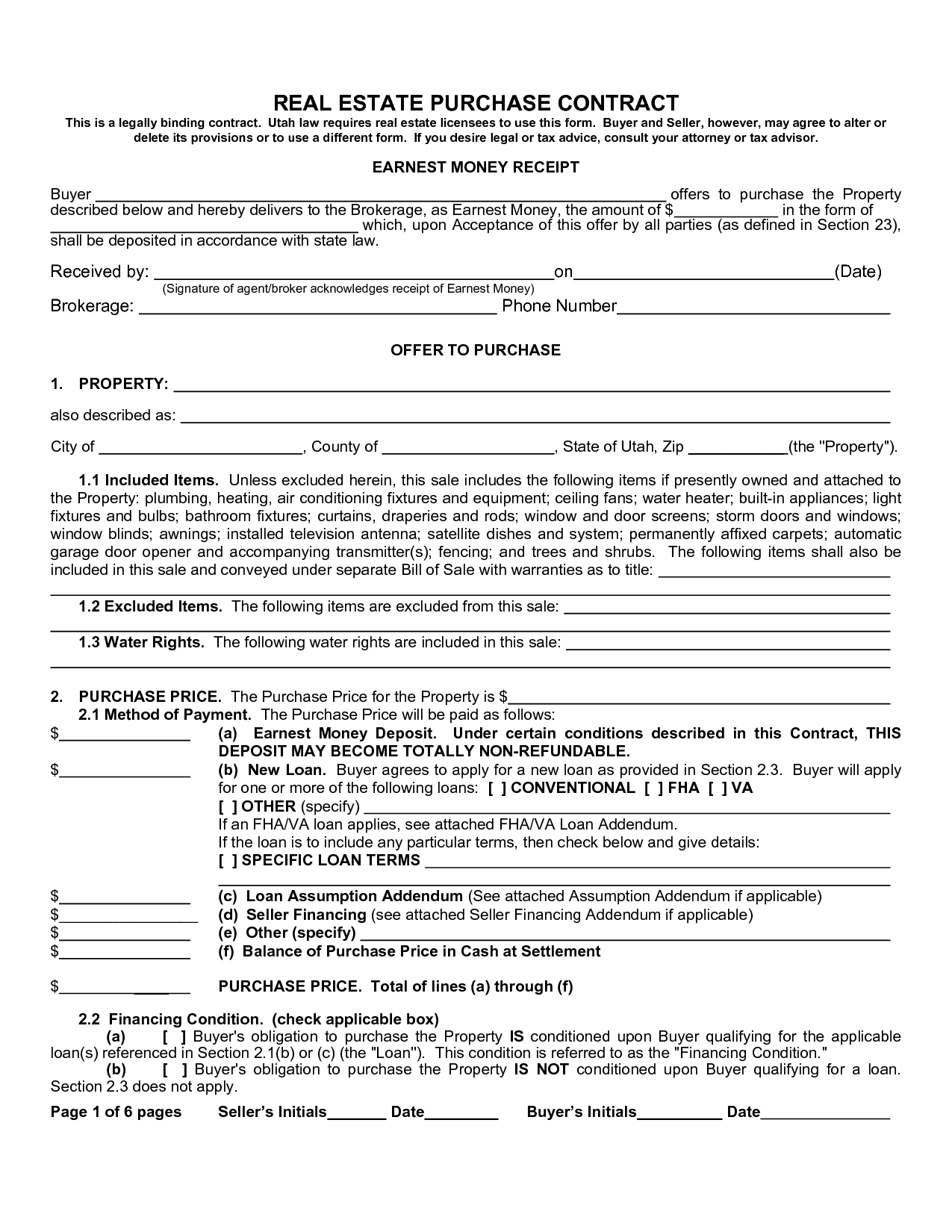 free purchase agreement form – Purchase Agreement Contract