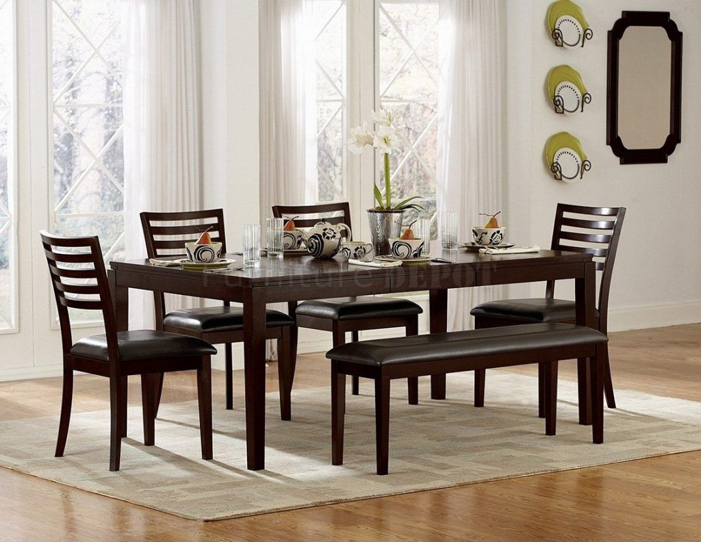 Dining Table Set With Bench Photo Of Dining Room Table Sets With     Dining Table Set With Bench Photo Of Dining Room Table Sets With Bench